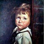 cuadro niña llorando