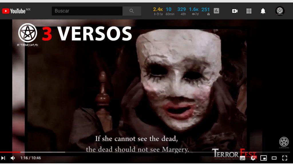 3 versos - Cortometraje de terror