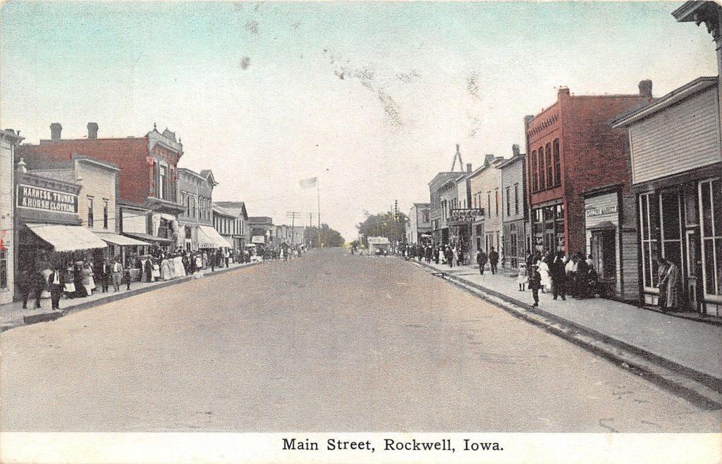 Rockwell Iowa 1910 Postal